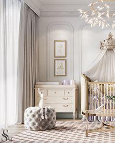Luxury Kids Bedroom, Luxury Nursery, Living Room Tv Cabinet, Living Room Tv Unit Designs, Luxury Homes Interior, Aesthetic Bedroom, Luxurious Bedrooms, Residential Complex, London Apartment