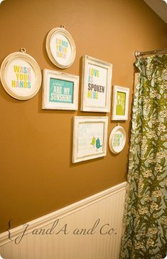 kids bathroom--painted white, grey or coral..can't decide