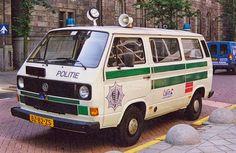 Volkswagen T3 automaat toentertijd in gebruik bij de Gemeentepolitie Rotterdam