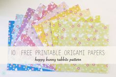Bunny Rabbits Pattern - 10 Free Printable Origami Papers