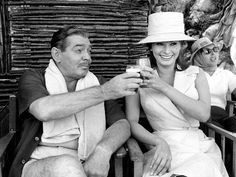 Clark Gable and Sophia Loren on the set of IT STARTED IN NAPLES (1960)