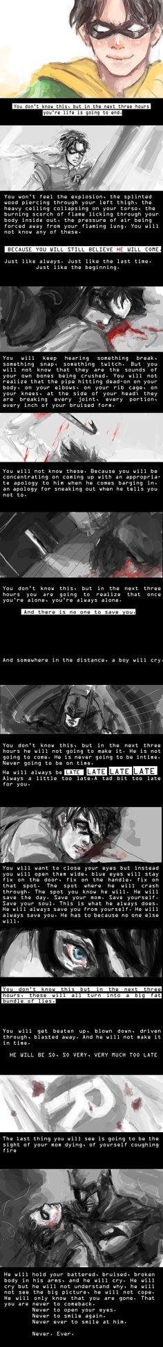 Jason Todd - Exalt 1 of 2 by ~LemonedShake on deviantART. Im cryinggggggg poor jason -,_-, Nightwing, Batgirl, Im Batman, Batman Robin, Jason Batman, Tim Drake, Dc Comics, Robins, Red Hood Jason Todd