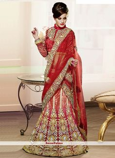 Pink Shaded Stone Enhanced Velvet Lehenga Choli