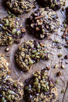 Harvest Oatmeal Chocolate Chunk Cookies with Salted Toasted Pepitas   halfbakedharvest.com @hbharvest