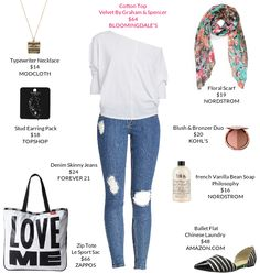 Calling back the 80's style. @Bloomingdale's  @Zappos  #skinnyjeans #balletflats #totebag