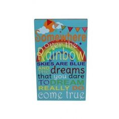 Somewhere Over The Rainbow Wall Plaque Rainbow Sky, Rainbow Wall, Over The Rainbow, Somewhere Over, Wall Plaques, Dress, Products, Dresses, Vestidos