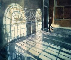 The Visitor-Baltimore Museum of Art by Sarah Yeoman Fine Art Giclee ~ 22 x 30