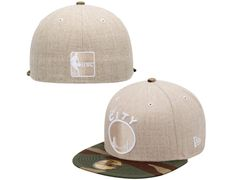e377872988 Golden State Warriors Heathered Two-Tone Natural-Camo HWC 59Fifty Fitted  Baseball Cap by NEW ERA x NBA