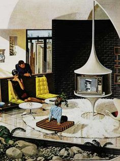 The aspects that I admire is how the  furniture is organized, the building scenery, the Tv, and the rug.