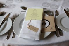 place setting record favour Colourful Quirky Summer Garden Wedding http://www.mariafarrelly.com/