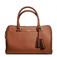 Coach Legacy Leather Haley Satchel - too cha-cha for words. Love this bag. It is the perfect size for my things and the leather is supple. It is in heavy rotation among my handbags now.