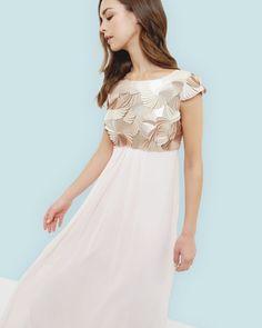 Robe longue à sequins - Rose | robes | Ted Baker FR