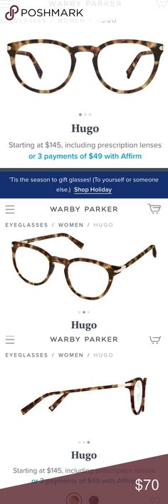 1743fd7df4 Warby Parker Louise Non Prescription Glasses NWT in 2018 My