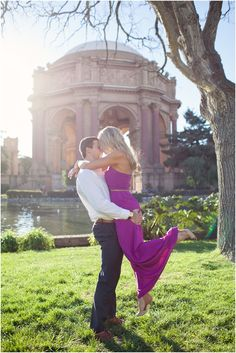San Francisco Palace of Fine Arts Engagement Session. I didn't get engaged there, but I did drive by on my honeymoon, which is almost the same thing, right?