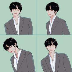 Fanart BTS - Love is nothing stronger - Pagina 2 - Wattpad anime Fanart BTS - Love is nothing stronger Bts Chibi, Kpop Fanart, Taehyung Fanart, Bts Taehyung, Fan Art, L Dk Manga, Character Art, Character Design, Kpop Drawings