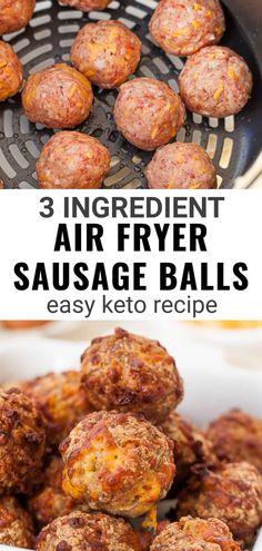 Air Fryer Recipes Low Carb, Air Fryer Dinner Recipes, Healthy Low Carb Recipes, Healthy Soup, Keto Foods, Pork Recipes, Keto Recipes, Ground Pork Sausage Recipes, Air Frier Recipes