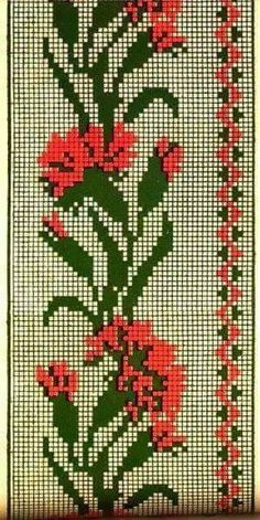 Cross Stitch Bookmarks, Cross Stitch Borders, Cross Stitch Rose, Cross Stitch Flowers, Cross Stitch Designs, Cross Stitching, Cross Stitch Embroidery, Embroidery Patterns, Hand Embroidery