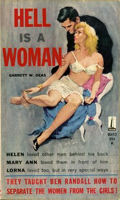 """The cover artwork by Jack Thurston for """"Hell Is A Woman"""""""