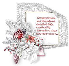 Vánoční přání s říkankou | vánoční blog Christmas Wreaths, Blog, Holiday Decor, Frame, Cards, Winter Craft, Advent, Home Decor, Humor