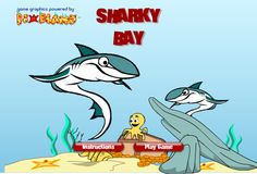 Rules are simple in Sharky Bay: sharks eat octopodes, octopodes eat tiny fish and tiny fish run for their life...