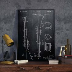 Rifle Patent Print Gift for Soldier Cowboy Decor Patent
