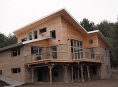 3 story rammed earth home...