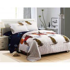 Luxury 4-piece cotton comforter sets Lovely Dog