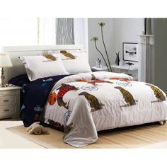 Luxury 4-piece cotton comforter sets Lovely Dog