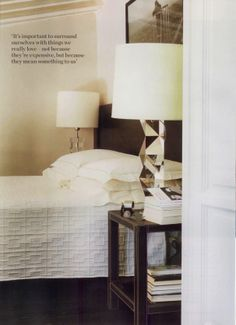 The bedroom of Franco and Alessandra Mariotti, owners of Flair Florence. - Elle Decor UK, October 2012