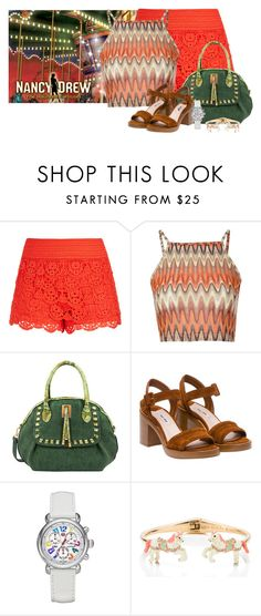 """""""Haunted Carousel-Nancy Drew 2016 Collection"""" by stephaniefb ❤ liked on Polyvore featuring City Chic, Glamorous, Mellow World, Miu Miu, Michele and Kate Spade"""