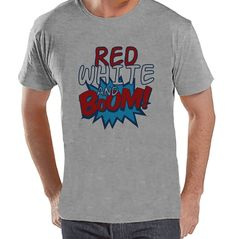{Now Available} New product: Custom Party Shop.... Check it out here! http://7ate9apparel.com/products/custom-party-shop-mens-red-grey-boom-4th-of-july-grey-t-shirt?utm_campaign=social_autopilot&utm_source=pin&utm_medium=pin