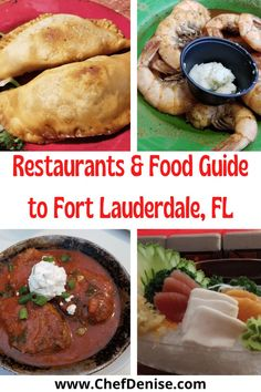 Here's the best food in Fort Lauderdale! What to eat and the best Fort Lauderdale restaurants! The best Fort Lauderdale restaurants for seafood, Latin American food, Greek food, Indian food, and Thai food. Best Sushi in Fort Lauderdale, ice cream in Fort Lauderdale, and a hidden gem you'd never expect! Greek Recipes, Wine Recipes, Indian Food Recipes, Vegetarian Recipes, Usa Travel Guide, Travel Usa, Travel Guides, Travel Tips, Fort Lauderdale Restaurants
