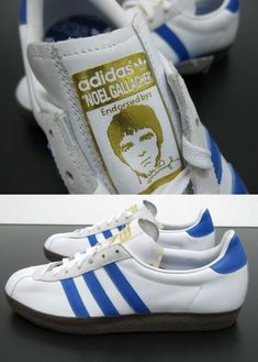 More Pictures Of Noel Gallaghers Adidas Gazzelle Trainers ~ Latest Oasis, Beady Eye And Noel Gallagher News Sneakers Mode, Sneakers Adidas, Casual Sneakers, Sneakers Fashion, Men's Sneakers, Adidas Vintage, Adidas Retro, Adidas Spezial, Adidas Sneakers