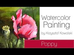 ▶ Watercolor painting - Poppy - YouTube