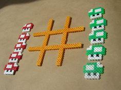 Mario Tic tac Toe perler beads.