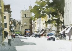 Картинки по запросу watercolour paintings of john yardley Great Paintings, Landscape Paintings, Cityscape, Contemporary Watercolor, Watercolor Art Landscape, Watercolor Landscape, Famous Art, Art Pictures, Draw On Photos