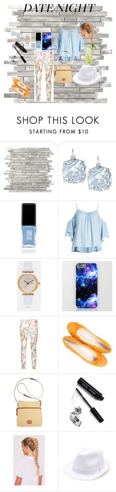 """""""Date night drinks"""" by cluesfortheclueless ❤ liked on Polyvore featuring Kate Spade, JINsoon, Ted Baker, 7 For All Mankind, Paolo Shoes, Dooney & Bourke, Bobbi Brown Cosmetics and plus size clothing"""
