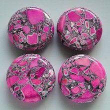Minerály - MARBLE 20mm-ružová-1ks - 5268137_
