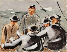 James Fitzgerald (1899-1971)      Fishermen, http://catalog.hm-lib.org/cgi-bin/koha/opac-detail.pl?biblionumber=42130