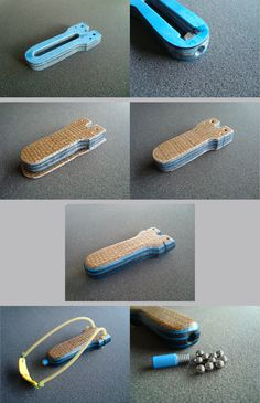 Small BB-Shooter made from homemade Paper/T-Shirt micarta and thin Burlap micarta. Contains 65 BB´s in the handle.