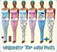 Annett`s Sims 4 Welt: Maternity Top with Pants • Sims 4 Downloads