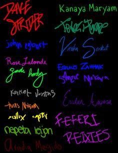 Homestuck signatures- I love how Terezi's is barely legible lol