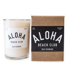 Aloha Beach Club - Candle 003//Redwood