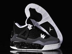 new style e103e 53b00 Buy Big Discount Nike Air Jordan 4 Womens Black Grey White Shoes from Reliable  Big Discount Nike Air Jordan 4 Womens Black Grey White Shoes suppliers.