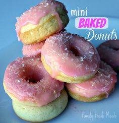 Mini Baked Donuts - Family Fresh Meals