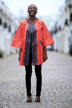 Red Wave Akiko African Street Style, African Fashion, Kimono Top, Waves, London, Beautiful, Beauty, Ethnic, Inspiration