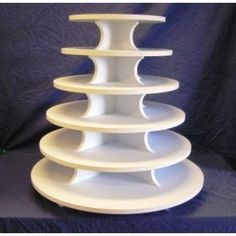 Plastic Laminated Foam Core 6 Tier Round Cupcake Stand  (Holds up to 200 Cupcakes)