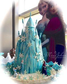 Frozen Homemade Elsa Ice Castle Cake Frozen Party
