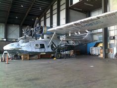 Consolidated PBY-5A Catalina (YV-485C, c/n 1774) abandoned at Luis Muñoz Marín Int. aiport, Puerto Rico on September 4th, 2009. 	Auctioned on eBay for US20,000 to Rathmines Catalina Park Trust, Lake Macquarie, New South Wales, Australia on Feb 25th, 2013 and shipped to Australia for restoration.
