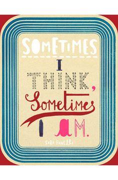 Sara Fanelli // Sometimes I Think, Sometimes I Am